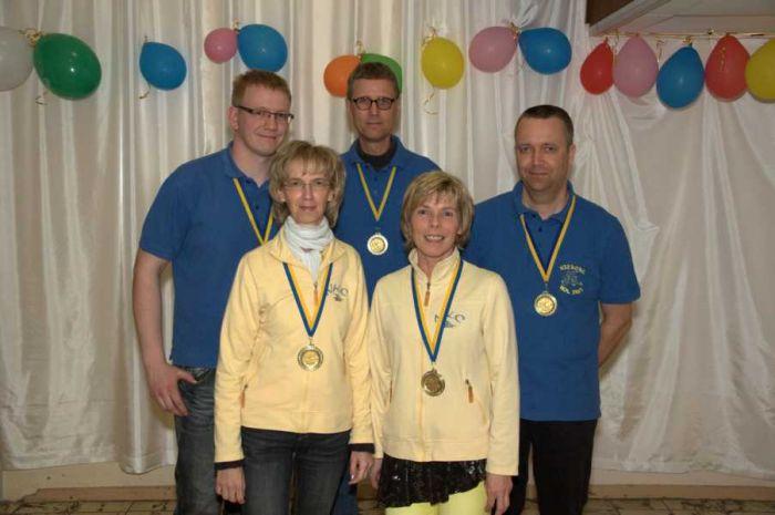 Unser Team vom Einlass mit Fabian, Karin, Thomas A., Katja und Thomas K.